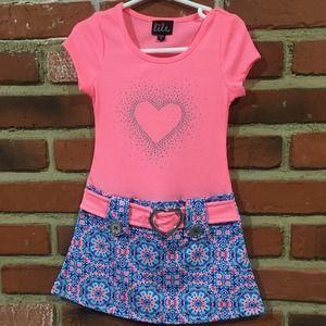 🌈 5 for $25 Girls Heart Dress Sz 4